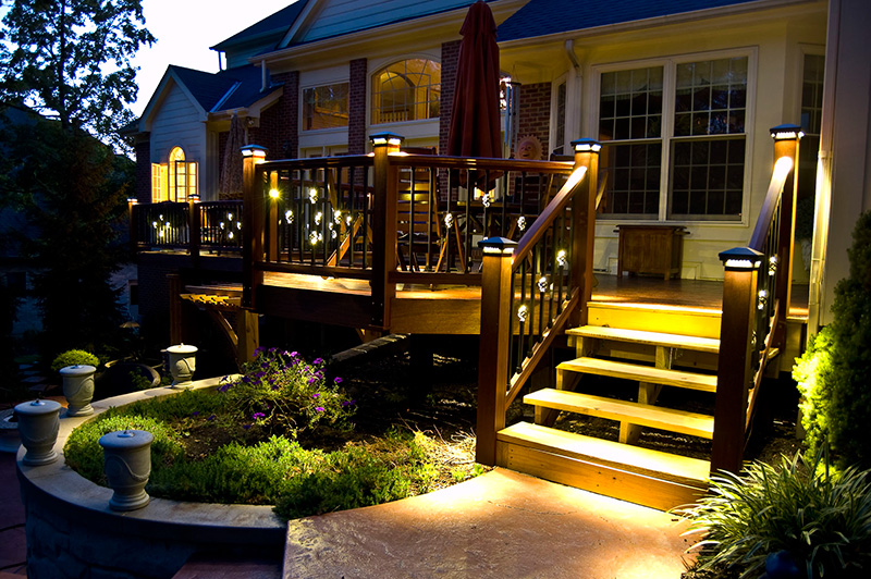 Decks  Electrical Solutions Minnesota   We ll light you up . Outdoor Deck Lighting Canada. Home Design Ideas